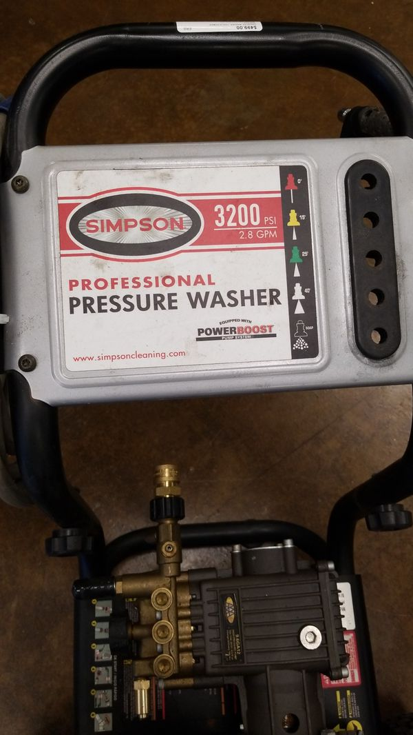 Pressure washer- Simpson