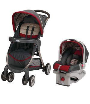 Graco Fastaction Fold Click Connect Travel System Stroller + Car Seat + Base for Sale in Alexandria, VA