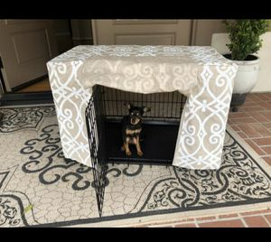 Dog crate with custom cover .. brand new for Sale in Oak Glen, CA
