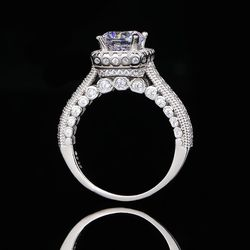 Beautiful Fashion Solid 925 sterling Silver Diamond Promise Engagement Wedding Ring By Rose 🌹 Heart ❤️ Box for Sale in San Jose,  CA