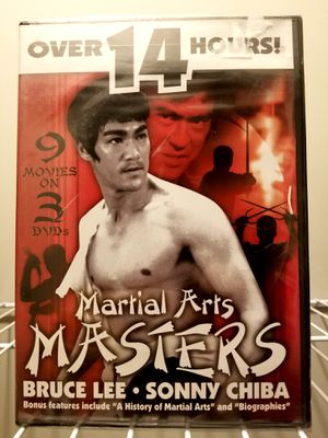 NEW*FACTORY SEALED** DVD Martial Arts Masters - Bruce Lee - Sonny Chiba for Sale in Indianapolis, IN