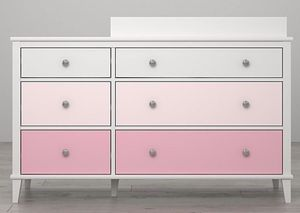 Baby girl 6 drawers with table changing for Sale in Queens, NY