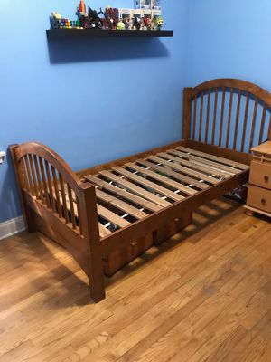Bed frame with drawers for Sale in Chicago, IL