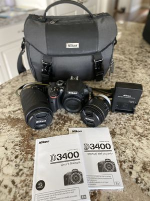 Nikon D3400 digital SLR for Sale in Fairview, OR