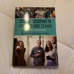 Communicating In Groups And Teams College Textbook for Sale in Las Vegas, NV