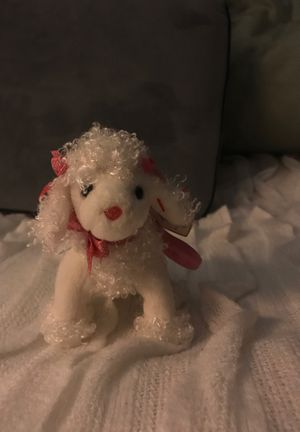 Ty beanie babies original. poodle. Poochie Poo. With attached keychain. Never used. Collectible for Sale in Los Angeles, CA