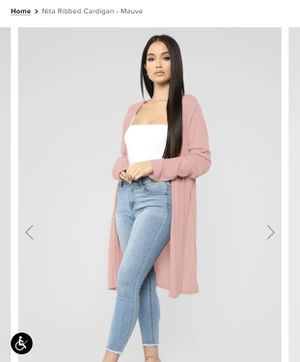 Nita Ribbed Cardigan (FashionNova) for Sale in Bothell, WA