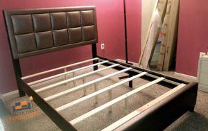 Brand new queen size golden platform bed frame for Sale in Silver Spring, MD