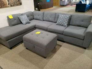 Sectional sofa ( no ottoman) new in boxes 110x79, reverse format chaise side for Sale in Oakland Park, FL