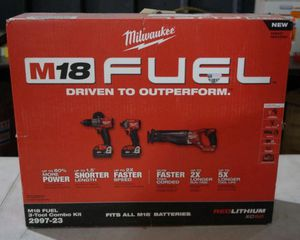 NEW MILWAUKEE M18 FUEL 3 TOOL COMBO KIT for Sale in Stockton, CA