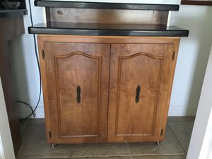 Bar, wood and granite with wine rack for Sale in Brownsville, TX