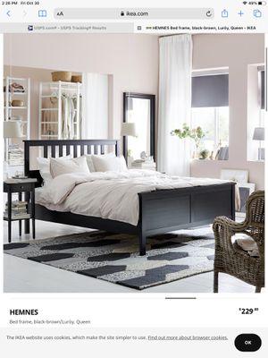 IKEA black bed frame for Sale in Miami, FL