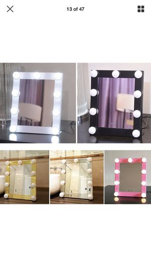 LED Vanity Lighted Hollywood Makeup Mirror Dimmer Stage Touch Beauty Table Lamp for Sale in Arlington, TX