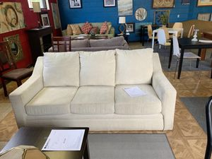 Cream Couch (Has matching loveseat) for Sale in MONTGOMRY VLG, MD