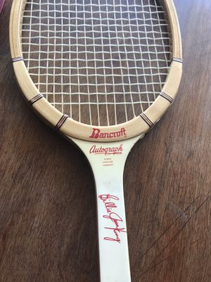 Vintage 1970's Billie Jean KING Personal BANCROFT Tournament Play 4.5 American Ash Tennis Racket Racquet Collectible Battle of the Sexes for Sale in Pomona, CA