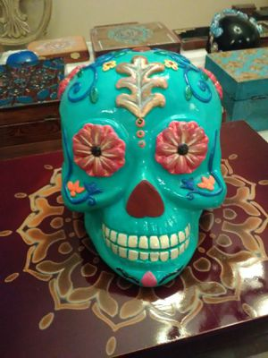 Hand painted sugar skull for Sale in Palm Harbor, FL