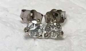 1/3 carat diamond stud earrings for Sale in Austin, TX