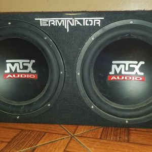 """2 12"""" MTX Subwoofers and box for Sale in San Diego, CA"""