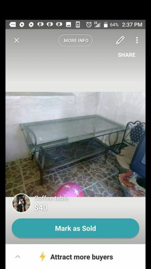 Glass coffee table for Sale in Sebring, FL
