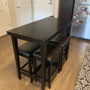 Counter Table & Bar Stools for Sale in San Francisco, CA