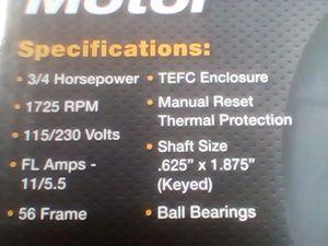 3/4 hp bi direction motor for Sale in Smithville, TX