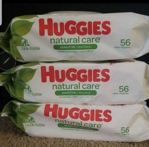 3 packs Huggies baby wipes for Sale in Glendora, CA