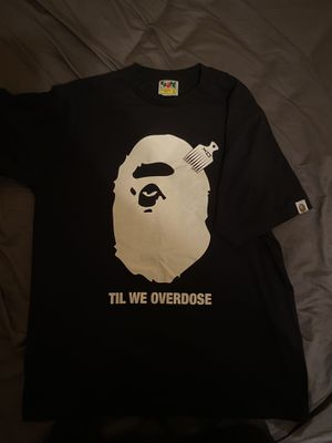 BAPE x XO The Weeknd Large Black Graphic T-Shirt for Sale in Miami, FL
