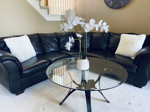 Modern Black Iron Coffee Table for Sale in Plymouth, MI