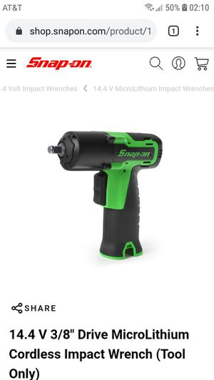 Snap-On 14.4v Microlithium Cordless Screwdriver & Impact Wrench Set w/ 2x Battrries and Battery Charger for Sale in Chamois, MO