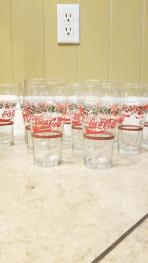Antique Coca-Cola holiday glasses for Sale in Gilbert, AZ