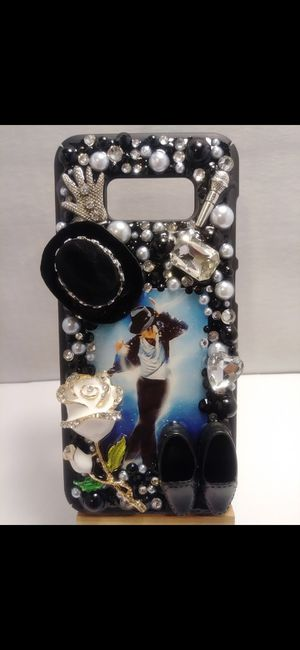 Handmade Bedazzled Michael Jackson Samsung Galaxy s8 Plus Phone Case for Sale in Cleveland, OH