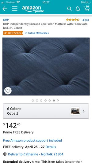 Futon mattress for Sale in Norfolk, VA