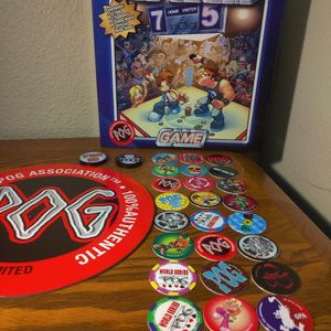 POG Classic Board Game 2-Player - Authentic - 24 Pogs + 2 Slammers + Game Board for Sale in Winchester, CA