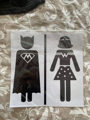 Men Women toilet sign decal sticker for Sale in Houston, TX