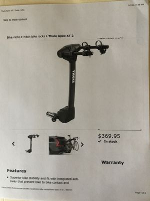 Thule Apex XT Bike Carrier for Sale in Nicholasville, KY