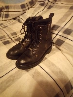 Leather Harley-Davidson Boots, Logger Style Steel Toe Women's size 8 1/2 for Sale in Graham, WA