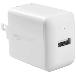 AmazonBasics One-Port USB Wall Charger for Phone, iPad, and Tablet, 12W - White for Sale in Escondido, CA
