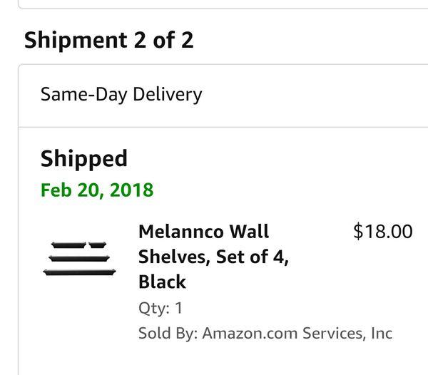 Brand new Melannco wall shelves