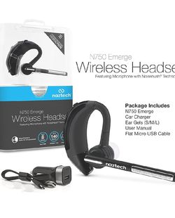 Bluetooth Wireless Headset With Charging Base. Noise Cancelling Mic and Multipoint Device Connection. for Sale in Miami,  FL