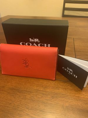 8c36df43ea Disney X Coach Limited First Edition Red Mickey Phone Wallet for Sale in  Peoria