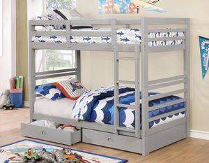 BRAND NEW TWIN TWIN BUNK BED ADD MATTRESS TWIN AND FULL ADD FURNITURE AVAILABLE LITERA INDIVIDUAL MATRIMONIAL for Sale in Claremont, CA
