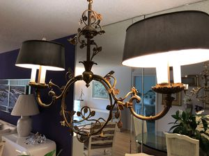 Antique brass and pewter chandelier for Sale in Lauderhill, FL