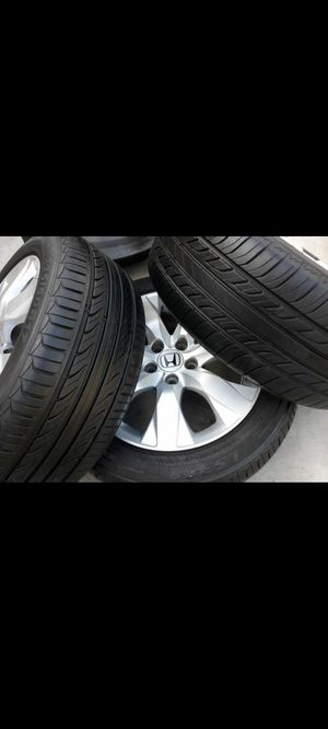 Honda OEM 17 inches rims with new tires for Sale in Riverside, CA