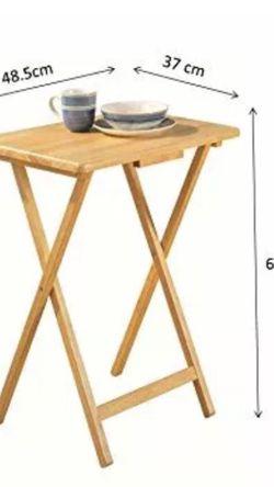 HEAVY DUTY - MDF Portable TV Dinner Laptop Tray Adjustable Folding Table Desk for Sale in La Puente,  CA