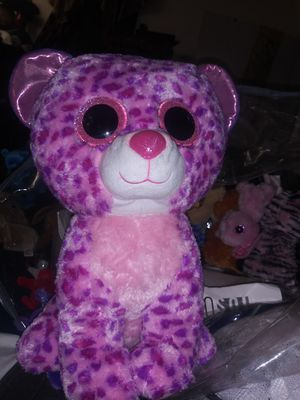 Ty extra large pink spot leopatd $60 obo for Sale in San Antonio, TX