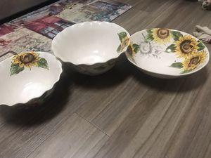 Designer serving bowls ! for Sale in Herndon, VA