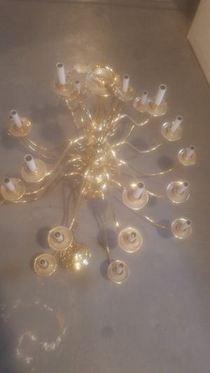 Gold-plated chandelier like new! for Sale in Cleveland, OH