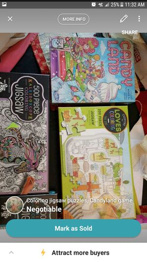 Coloring puzzles and board games for Sale in Rome, NY