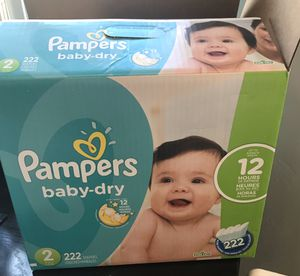 Pampers baby dry 74 count brand new! for Sale in Imperial Beach, CA