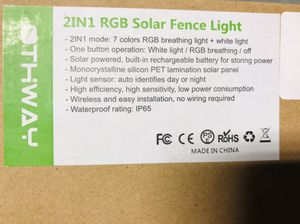 2IN RGB Solar Fence Light for Sale in Canton, MA